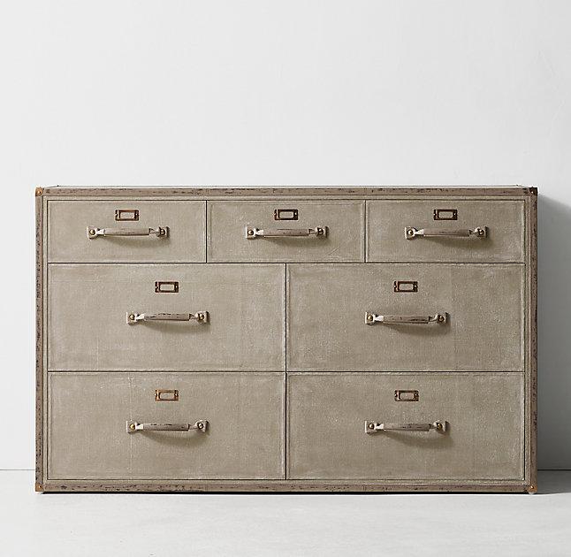 Beige Trunk Wide Dresser
