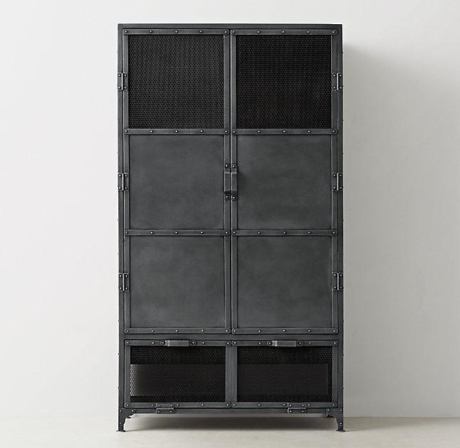 Steel Frame Wood Armoire