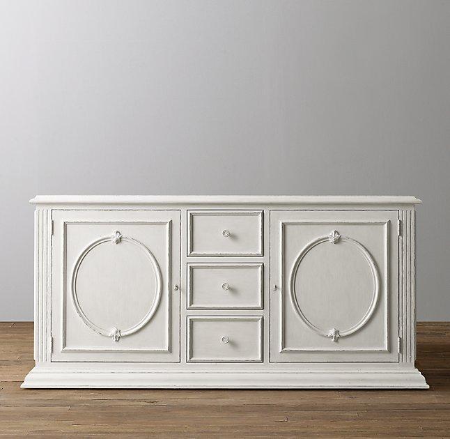 Brigitte Wide White Changing Cabinet