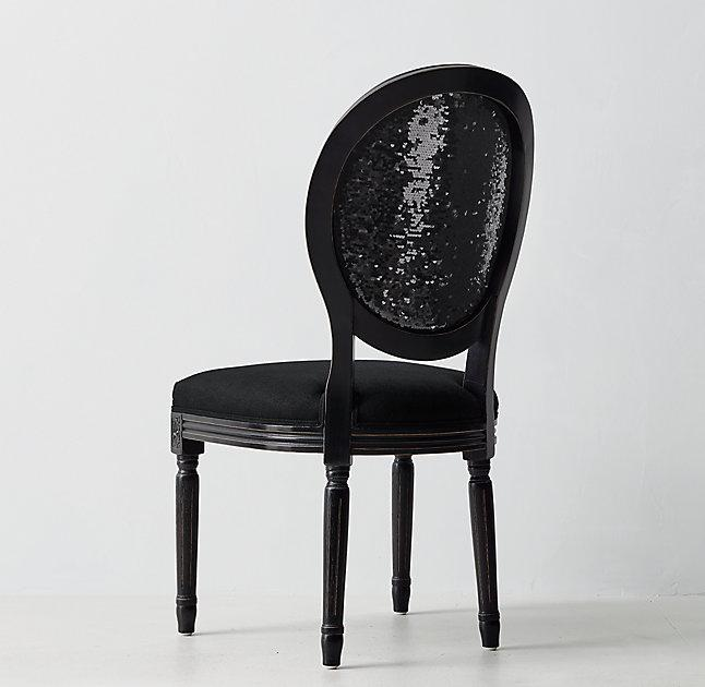 a586382bc Black Vintage French Sequin Desk Chair
