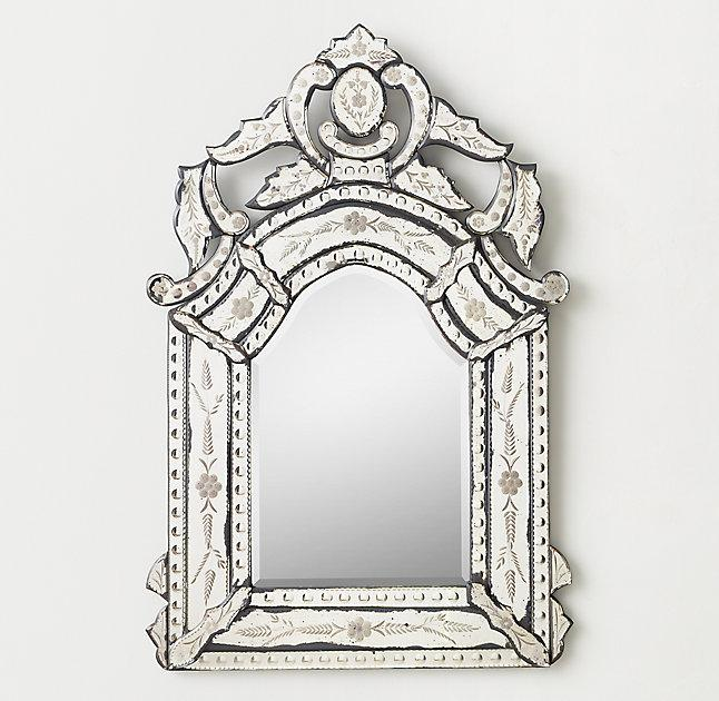 French Style Etched Dresser Mirror