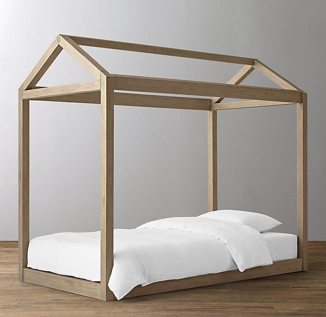 Brown House Framed Platform Bed