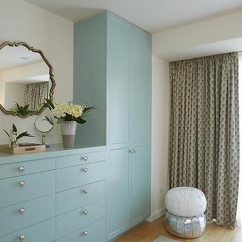 blue built in dresser and blue wardrobe cabinets - Cabinets Design Ideas