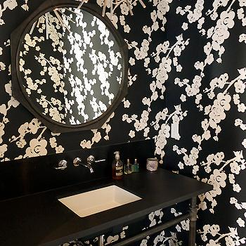 Black And White Floral Wallpaper Design Ideas