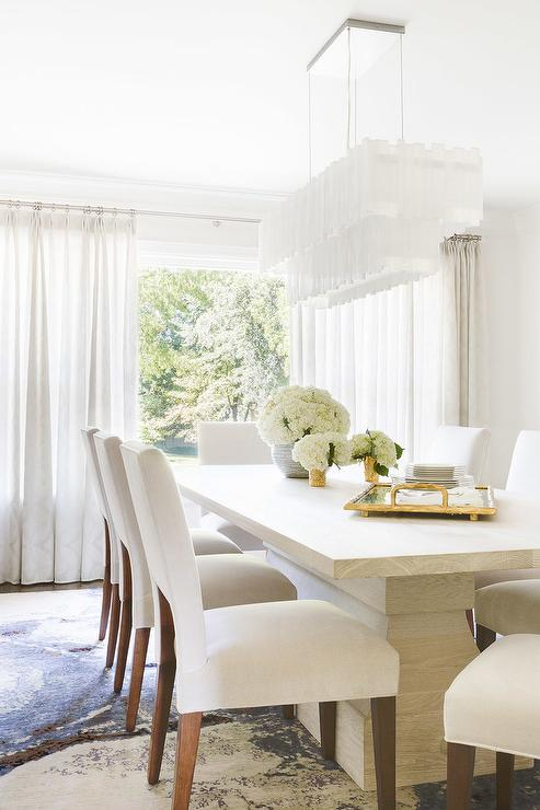Alyssa Rosenheck: White Rectangular Tiered Chandelier with ...