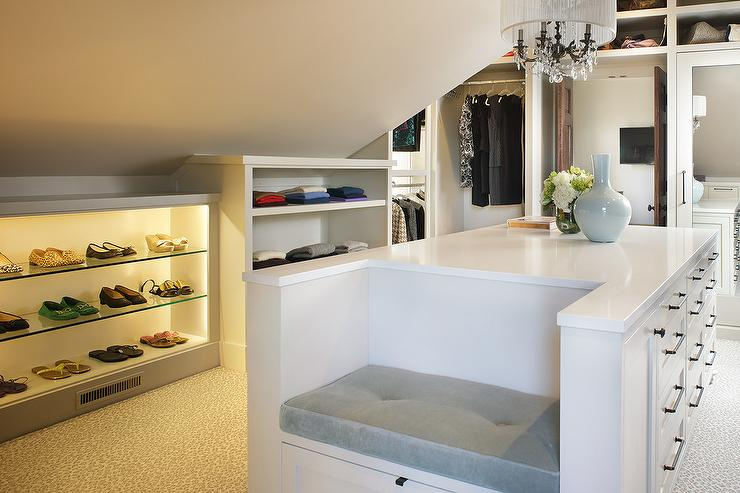 Closet Island Bench Design Ideas