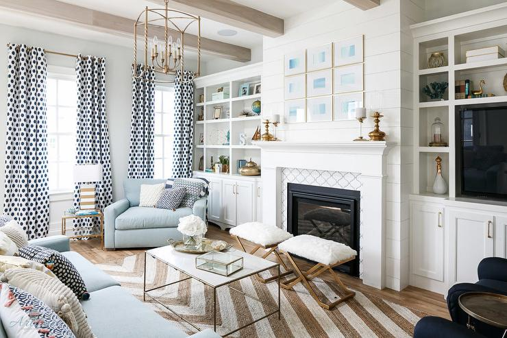 Magnificent White And Blue Living Room With Taupe Jute Herringbone Rug Theyellowbook Wood Chair Design Ideas Theyellowbookinfo