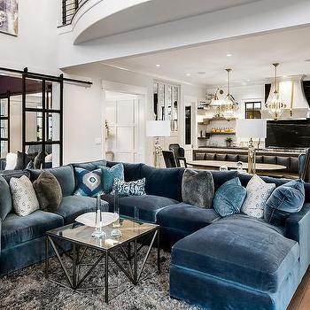 Blue Ikat Living Room Pillows Design Ideas