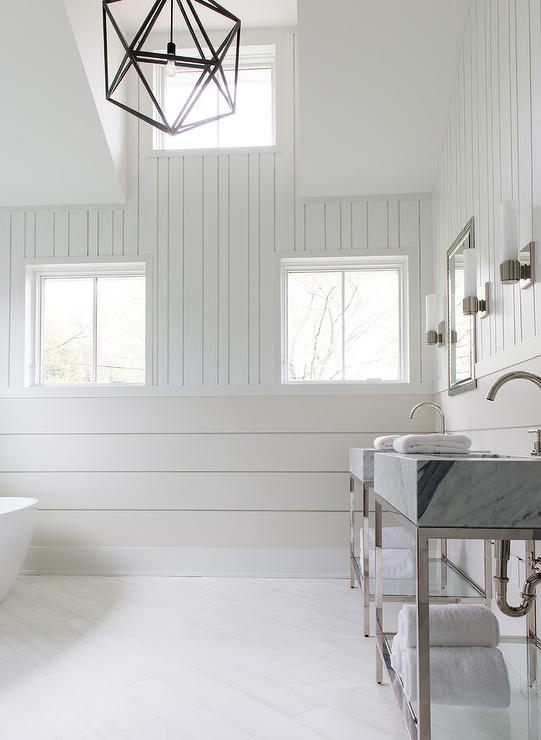 Horizontal Shiplap Bathroom Walls Design Ideas
