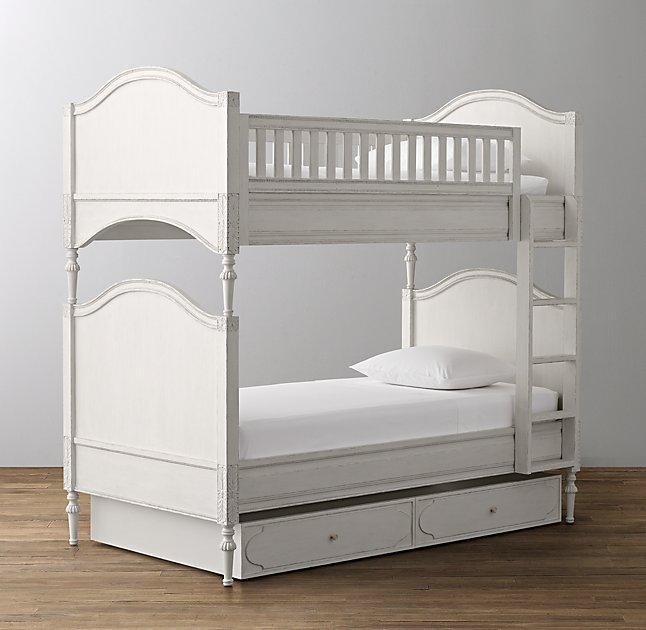 White Three Drawer Bunk Bed