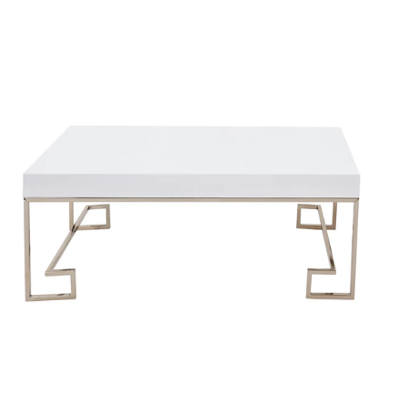 Progressive White Goldtone Mdf Metal Coco Cocktail Table