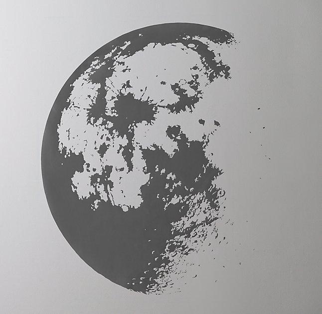 Moon Wall Art wall decal