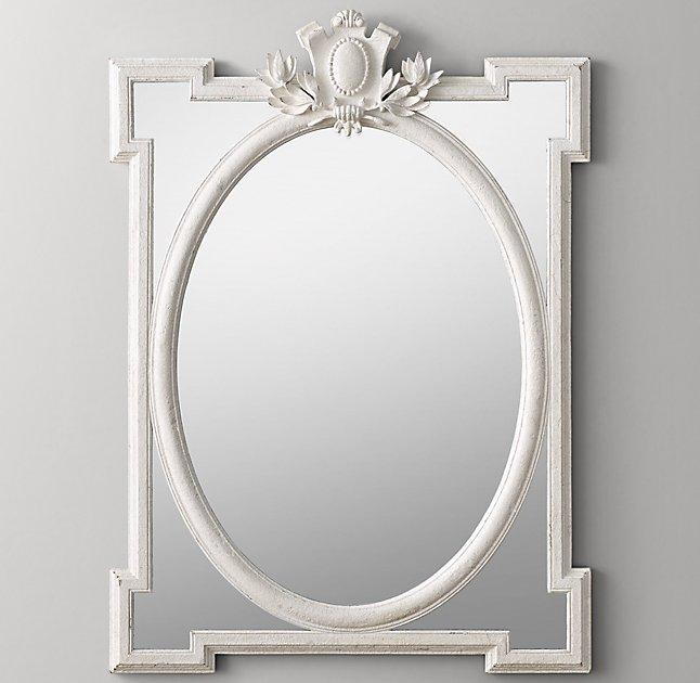 Juliette large antique white dresser mirror for White mirror