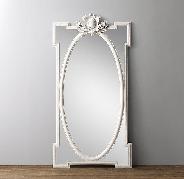 Very best Juliette Leaner White Antique Mirror BA21