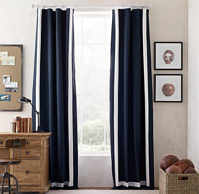 appliqud frame cotton canvas drapery panel view full size