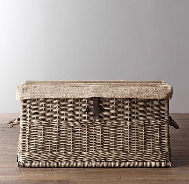 Perfect Bryce Handwoeven Wicker Trunk View Full Size
