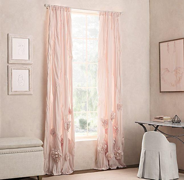 petal pink curtains