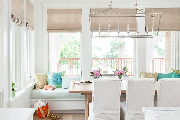 Beach Cottage Built In Dining Bench And Window Seat