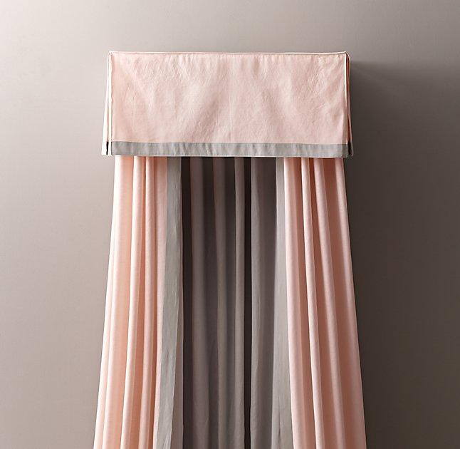 Framed Linen Cotton Bed Canopy & Linen Cotton Bed Canopy