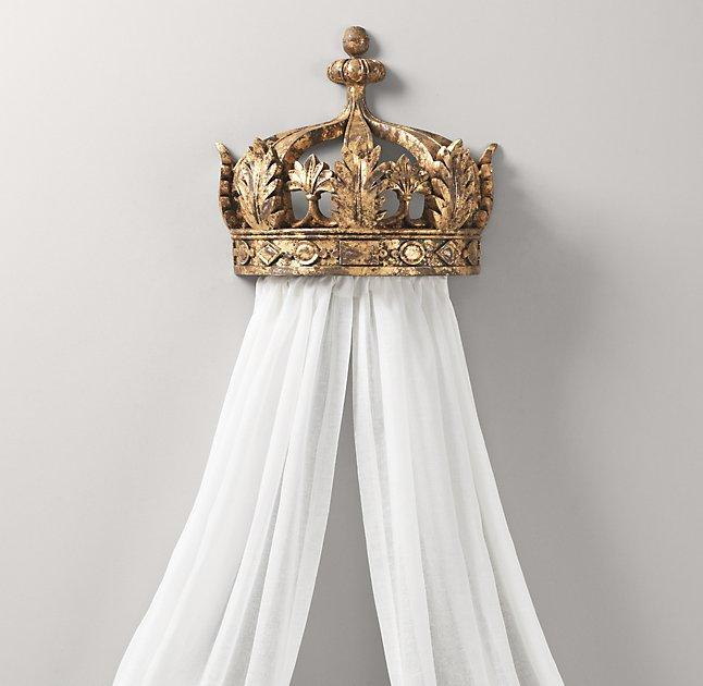 Gilt Demilune Canopy Bed Crown & Demilune Canopy Bed Crown