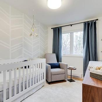 Gray crib nursery