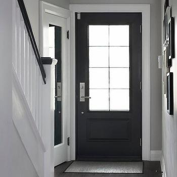 Foyer With Corner Coat Closet