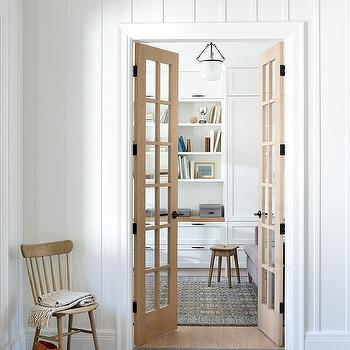Palladian Home Office French Doors Design Ideas