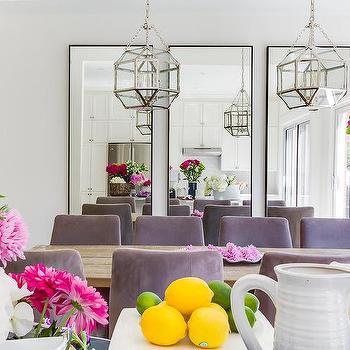 Violet Velvet Dining Room Chairs