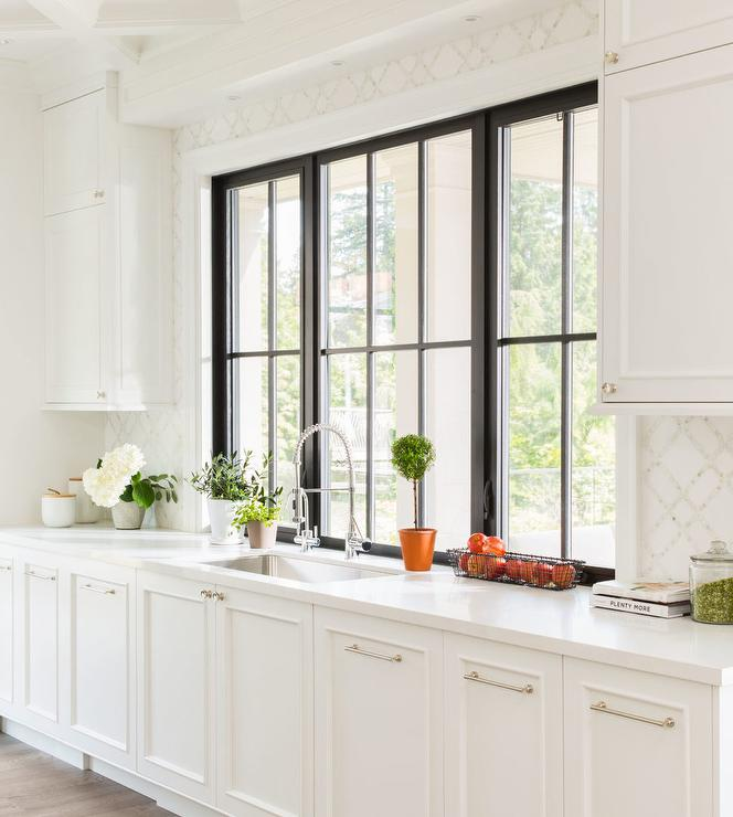 Kitchen Windows: Black Framed Windows Design Ideas