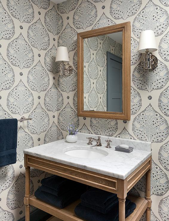 Weathered Oak Single Washstand Contemporary Bathroom