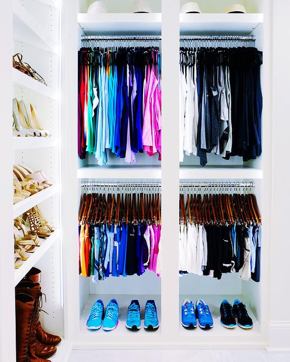 Color Coded Walk In Closet