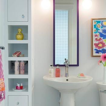 Built In Bathroom Cabinets Design Ideas