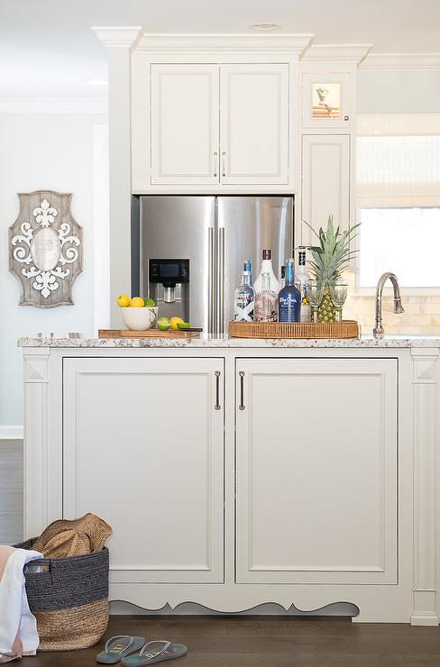 Kitchen Cabinets with Ornate Trim - Transitional - Kitchen