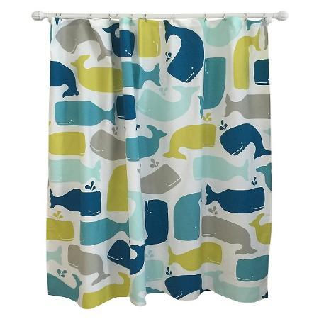Amparo Blue Whale Shower Curtain