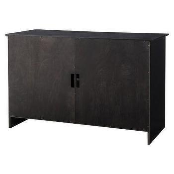 black shuttered door tv stand