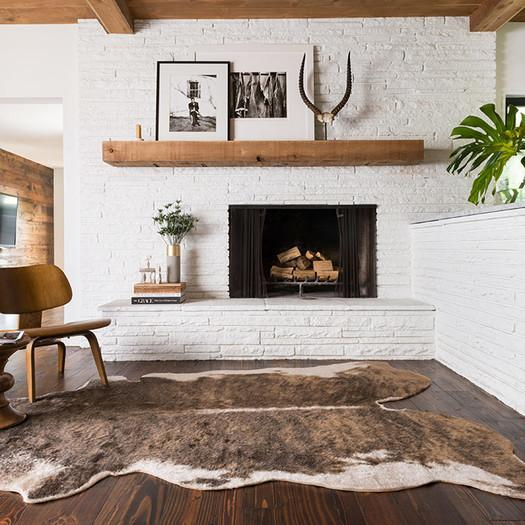 faux cowhide brown area rug
