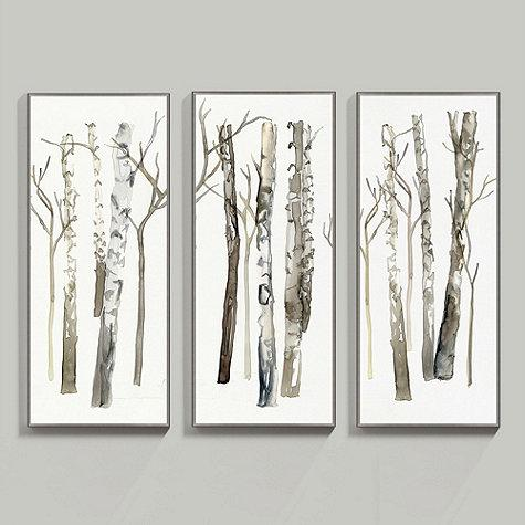 Stand Of Birch Trees Yellow And White Art