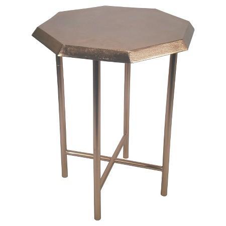Copper Gem Accent Table