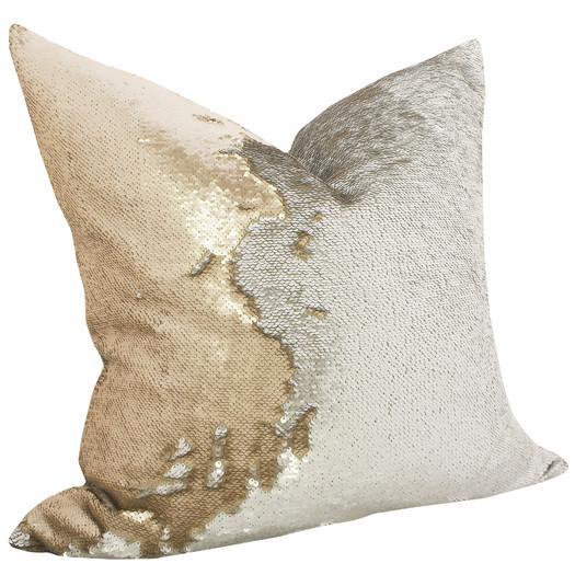 Callisto Home Eos Gold Sequin Embellished Cotton Pillow Beauteous Callisto Home Decorative Pillows