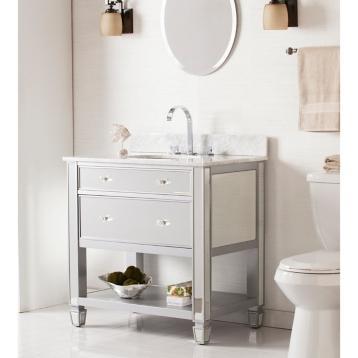 Trellis mirrors white single vanity for Bathroom vanities alexandria