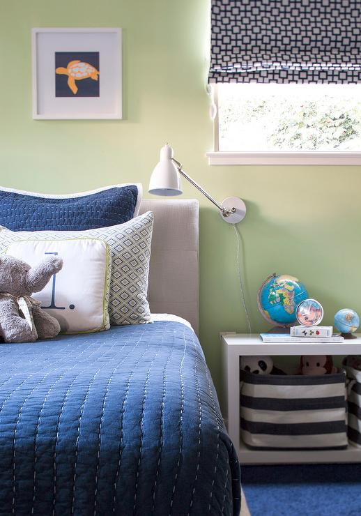 Paint gallery greens paint colors and brands design for Blue and green boys bedroom ideas