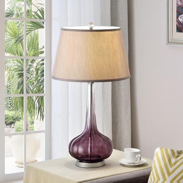 Mulberry Fluted Glass Table Lamp