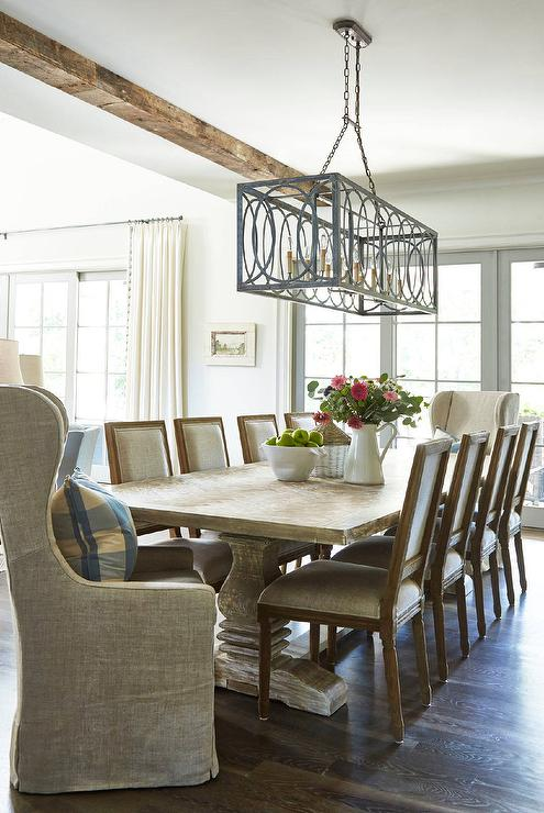 Sunroom kitchen cottage deck patio rice construction group - Dining room table chandeliers ...