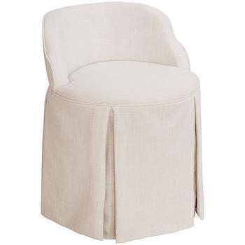 Reese Cream Vanity Chair