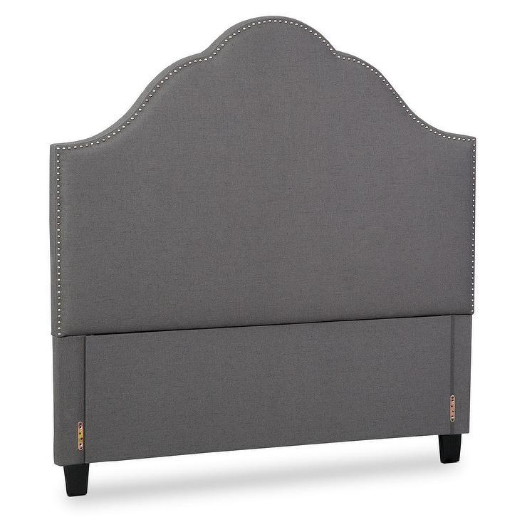 maya king gray upholstered headboard
