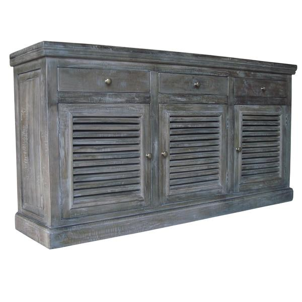 Double Door Gray Sideboard