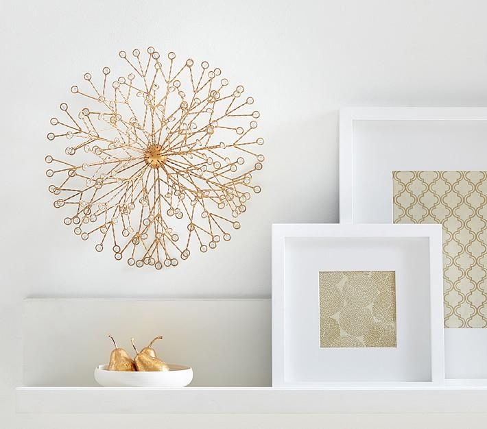 starburst hand painted gold blossom wall decor