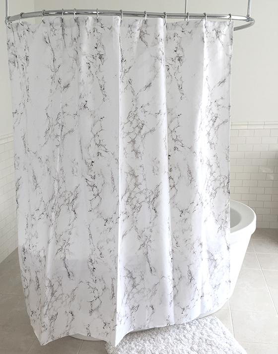 Home Decorators Collection Marbleized Shower Curtain View Full Size