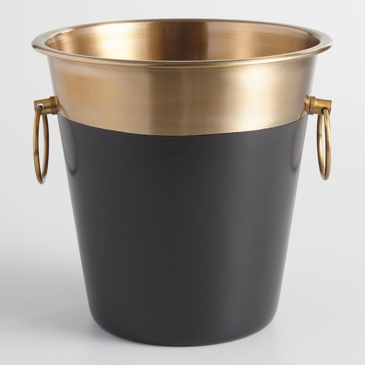Black And Gold Champagne Bucket Great Ideas