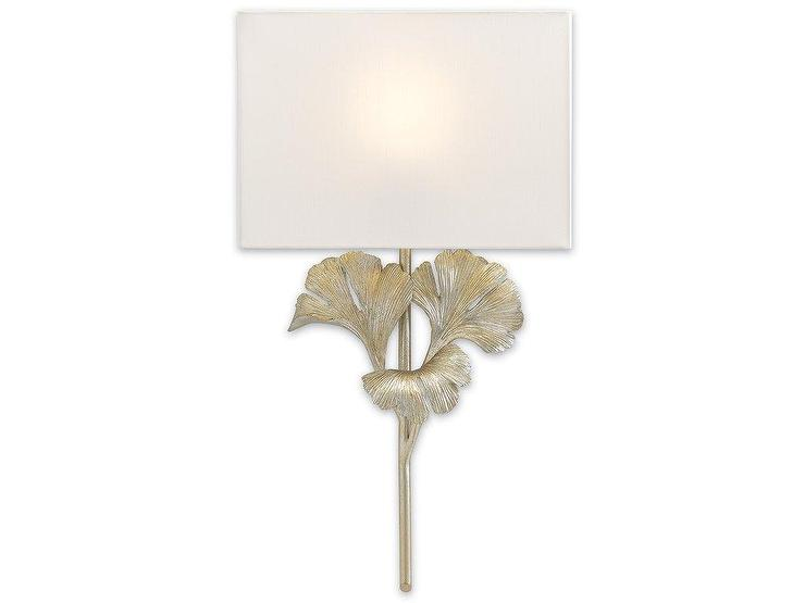 Riley White And Silver Sconce